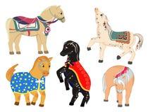 De poney van paarden Stock Afbeeldingen