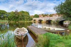 De Pont-Pen y Llyn in Llanberis in Wales royalty-vrije stock fotografie