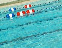 De pool met zwemt stegen royalty-vrije stock foto's