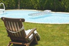De pool van de binnenplaats stock foto
