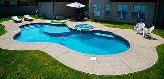 De pool van de binnenplaats Royalty-vrije Stock Foto's