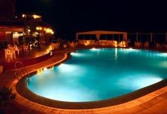 De pool van de nacht Royalty-vrije Stock Foto