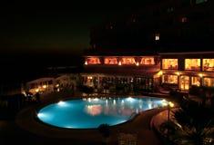 De pool van de nacht Stock Foto's