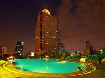 De Pool van de nacht Royalty-vrije Stock Foto's