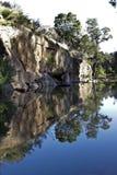 De pool van de rots in de Bergen Cederberg Royalty-vrije Stock Afbeeldingen