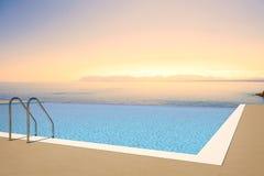 De pool van de zonsondergang Stock Foto