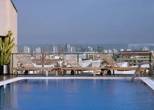 De pool van het dak Royalty-vrije Stock Foto's