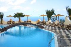 De pool van het hotel Stock Fotografie
