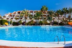 De pool van het water bij het eiland van Tenerife Stock Foto's