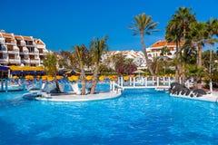 De pool van het water bij het eiland van Tenerife Stock Foto