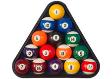 De poolballen van vlekken en van strepen. Stock Fotografie