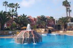 De poolfontein van het hotel Royalty-vrije Stock Fotografie