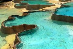 De pools van het kalksteen Stock Foto's