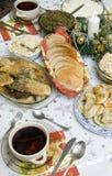 De Poolse lijst van Kerstmis Stock Foto's