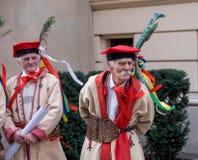 De Poolse parade van de onafhankelijkheidsdag, Krakau stock foto's