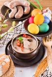 De Poolse soep van Pasen met ei royalty-vrije stock afbeeldingen