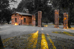 De poort aan het park Stock Afbeelding