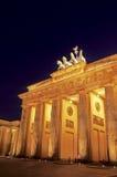 De Poort Berlijn, Duitsland van Brandenburg Stock Afbeeldingen