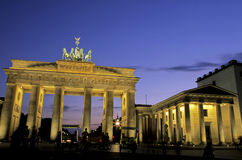 De Poort Berlijn, Duitsland van Brandenburg Stock Foto