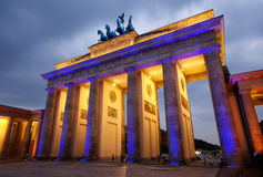 De Poort Berlijn van Brandenberg stock afbeelding