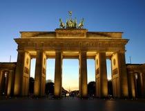 De Poort Berlijn van Brandenburg Royalty-vrije Stock Foto