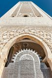 De poort Hassan II de minaret Casablanca van de ingang van de Moskee Royalty-vrije Stock Fotografie