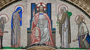 De poort Kerk van de Kathedraal van Westminster Stock Afbeeldingen