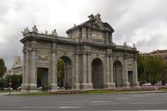 De poort van Alcala Stock Afbeelding