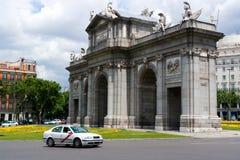 De Poort van Alcala in Madrid Stock Foto's