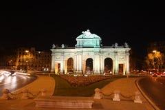 De Poort van Alcala - Madrid Spanje Royalty-vrije Stock Afbeeldingen