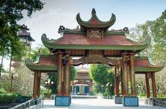 De poort van Ben Duoc Temple, Cu-Chi, Ho Chi Minh-stad, Vietnam stock fotografie