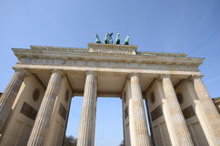 De poort van Berlijn Brandenburg Royalty-vrije Stock Foto