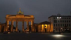 De Poort van Berlijn, Brandenburg stock videobeelden