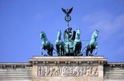 De Poort van Berlijn - van Brandenburg Stock Afbeeldingen