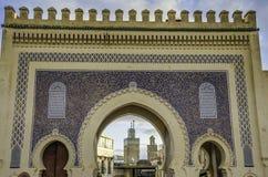 De poort van Bou Jeloud van Bab stock foto's