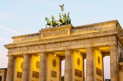 De poort van Brandenburg Stock Foto's