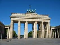 De Poort van Brandenburg in Berlijn Stock Foto's