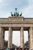 De Poort van Brandenburg in Berlijn Stock Fotografie