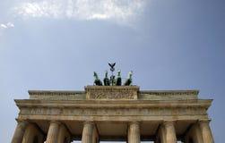 De poort van Brandenburg - Berlijn Stock Foto