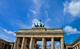 De poort van Brandenburg, Berlijn Stock Foto's