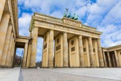 De poort van Brandenburg in Berlijn Royalty-vrije Stock Foto