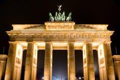 De poort van Brandenburg, Berlijn, Duitsland. Royalty-vrije Stock Afbeeldingen