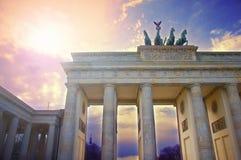 De Poort van Brandenburg in Berlijn, Duitsland royalty-vrije stock afbeeldingen