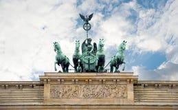 De Poort van Brandenburg, Berlijn, Duitsland stock foto's