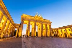 De Poort van Brandenburg (1788), Berlijn, Duitsland Stock Foto