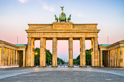 De Poort van Brandenburg in Berlijn, Duitsland Royalty-vrije Stock Foto's