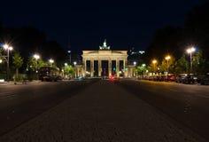 De Poort van Brandenburg bij nacht Royalty-vrije Stock Fotografie