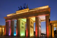 De Poort van Brandenburg - Brandenburger-Piek Stock Afbeelding