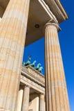 De Poort van Brandenburg (Brandenburger-Piek), Berlijn Royalty-vrije Stock Foto