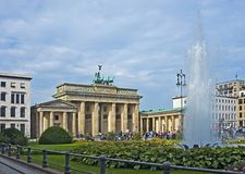 De Poort van Brandenburg, het symbool van Berlijn Royalty-vrije Stock Fotografie